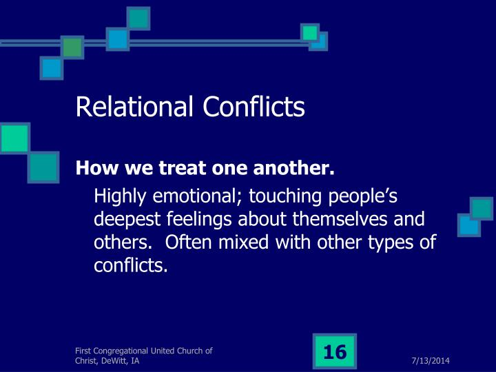 Relational Conflicts