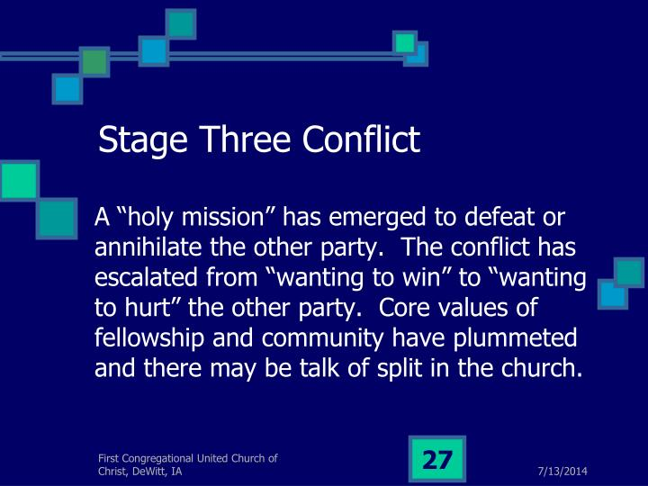 Stage Three Conflict