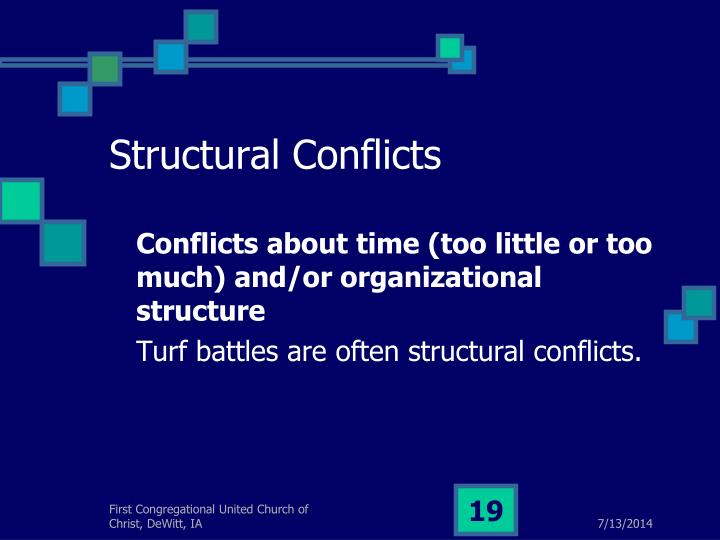 Structural Conflicts