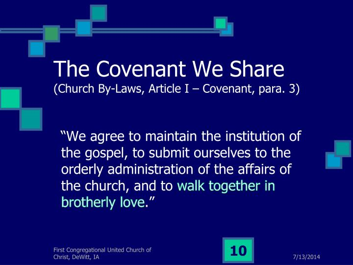 The Covenant We Share