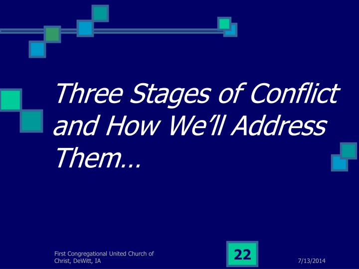 Three Stages of Conflict and How We'll Address Them…