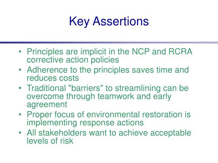 Key Assertions