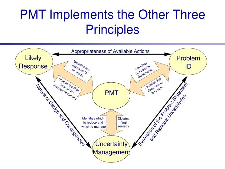 PMT Implements the Other Three Principles