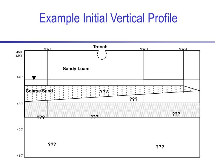 Example Initial Vertical Profile