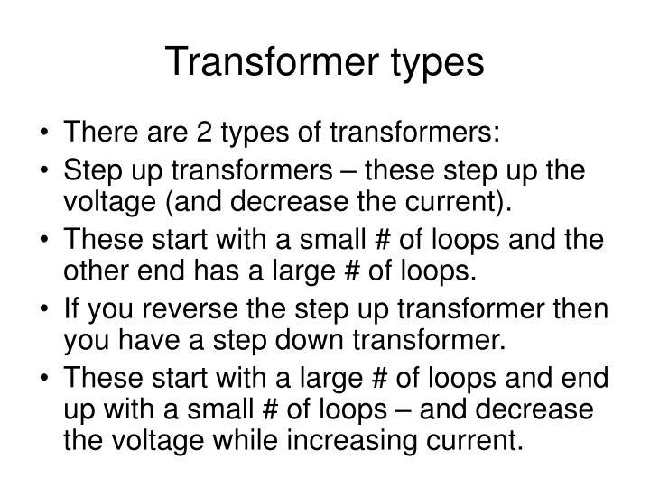 Transformer types