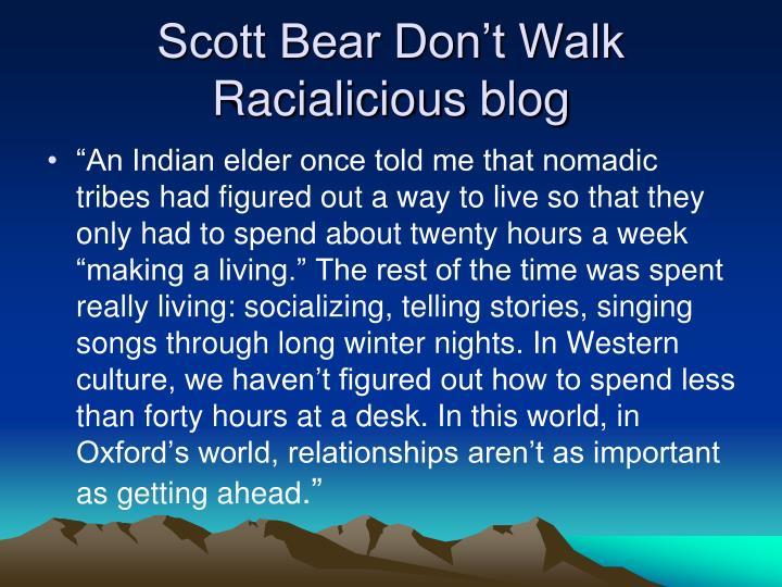 Scott Bear Don't Walk