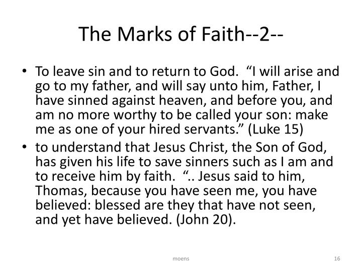 The Marks of Faith--2--