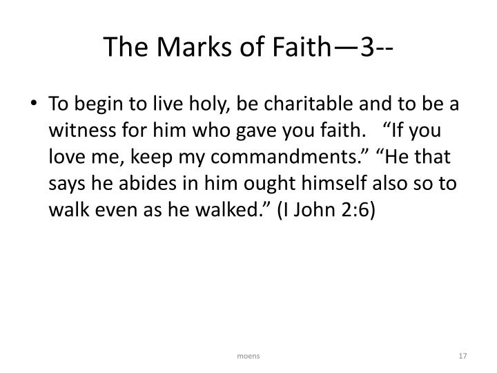 The Marks of Faith—3--