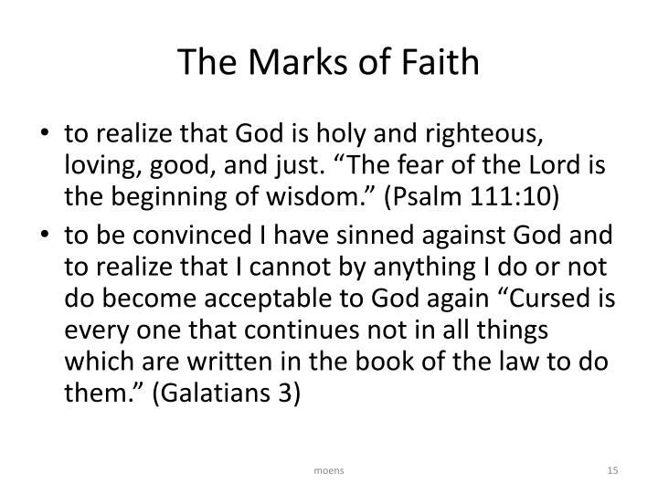 The Marks of Faith