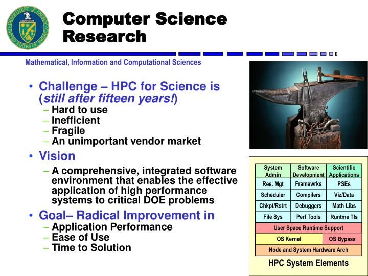 Challenge – HPC for Science is (