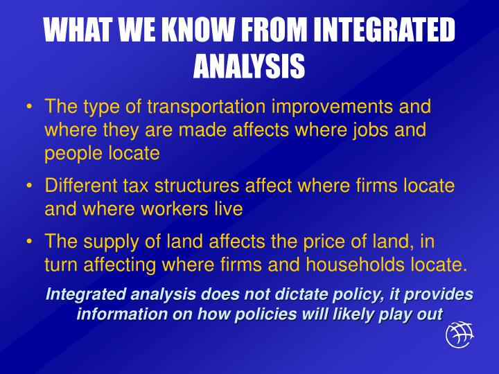 WHAT WE KNOW FROM INTEGRATED ANALYSIS