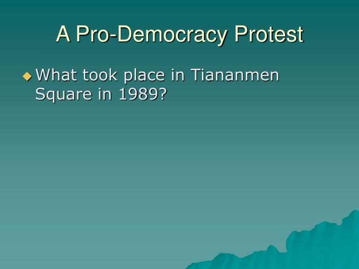 A Pro-Democracy Protest