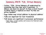 summary 4 5 tlb virtual memory
