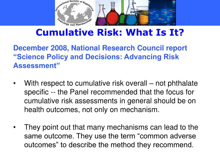 Cumulative Risk: What Is It?