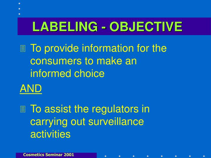 LABELING - OBJECTIVE