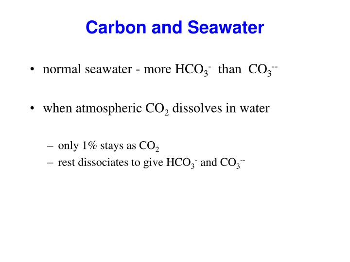 Carbon and Seawater