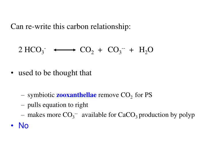 Can re-write this carbon relationship: