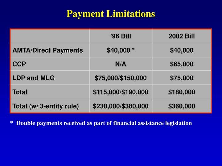 Payment Limitations