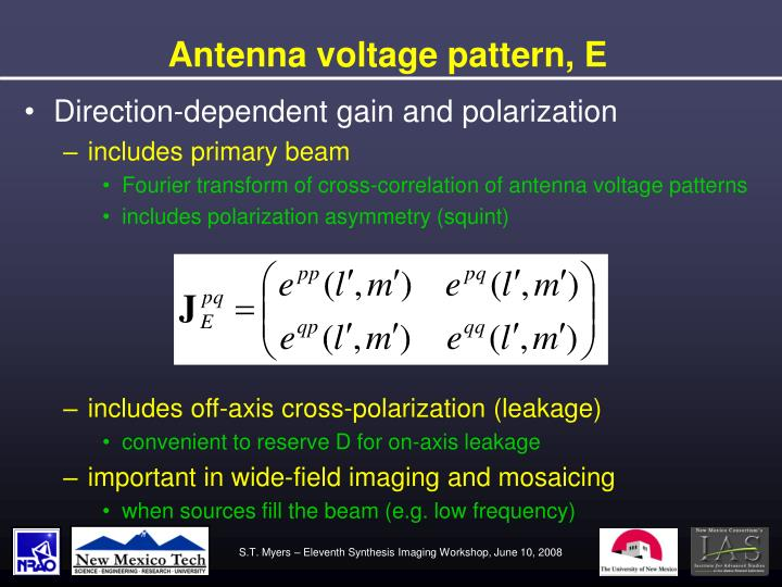 Antenna voltage pattern, E