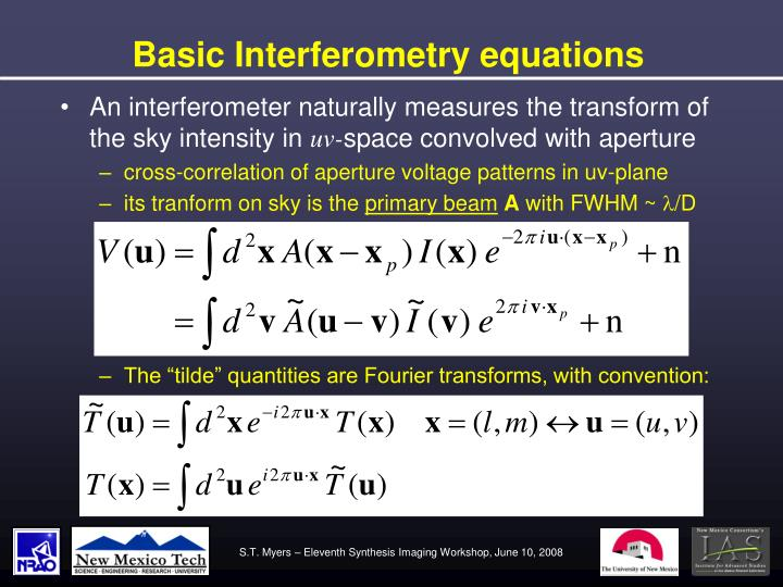 Basic Interferometry equations