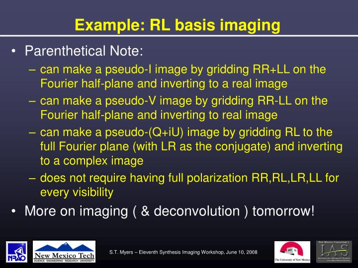 Example: RL basis imaging