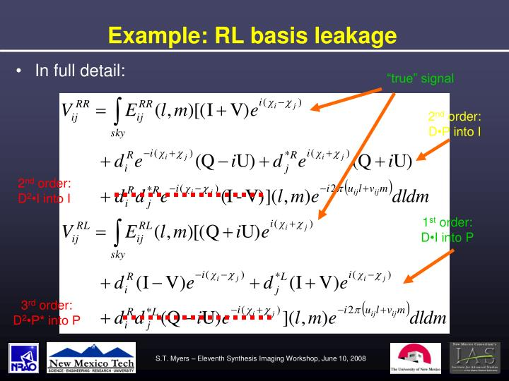 Example: RL basis leakage