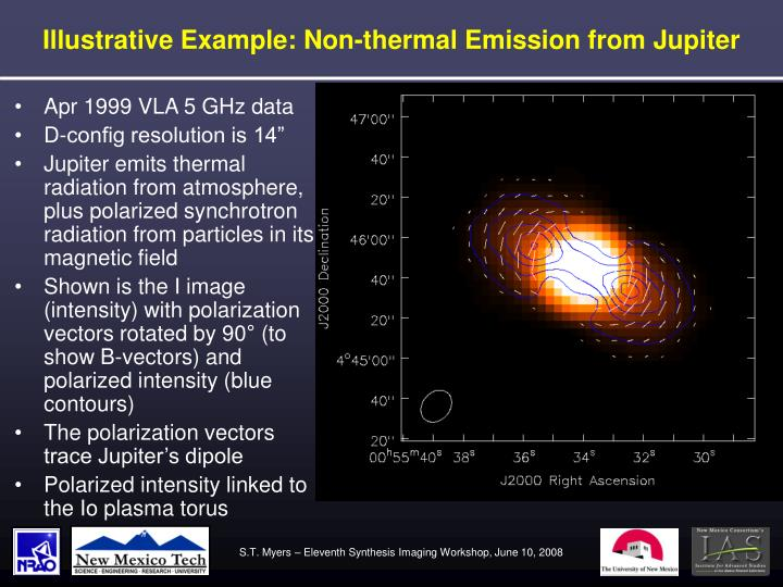 Illustrative Example: Non-thermal Emission from Jupiter