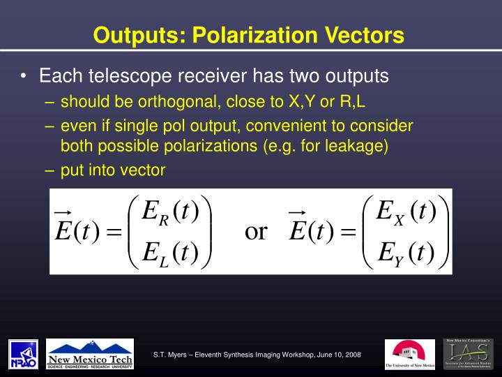 Outputs: Polarization Vectors