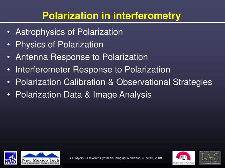 Polarization in interferometry1