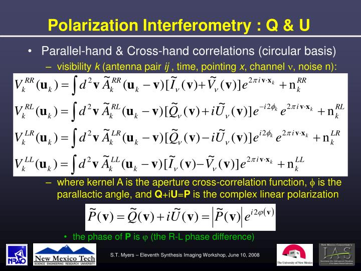 Polarization Interferometry : Q & U