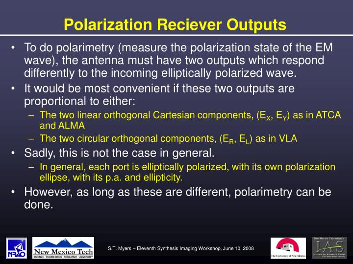 Polarization Reciever Outputs