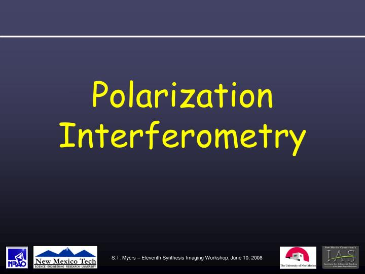 Polarization Interferometry