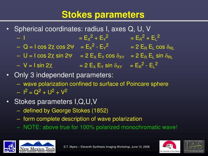 Stokes parameters