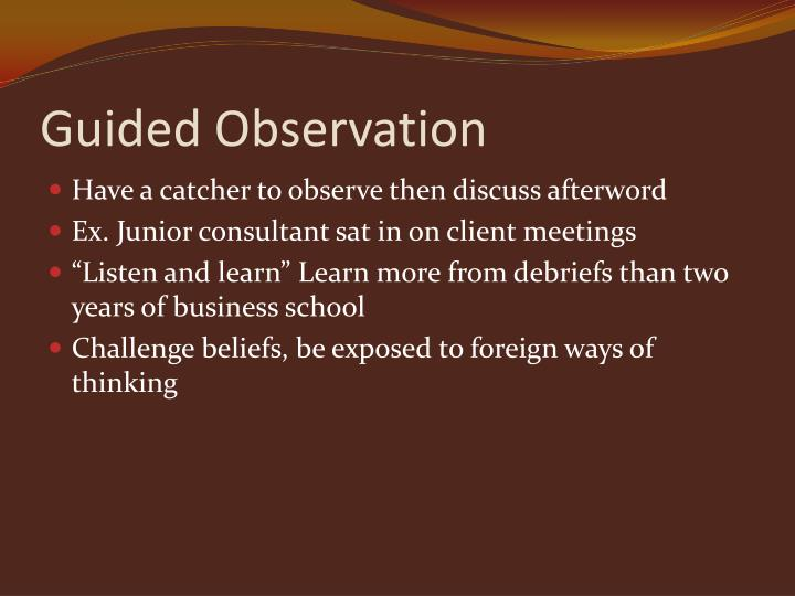 Guided Observation