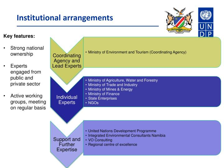 Institutional arrangements