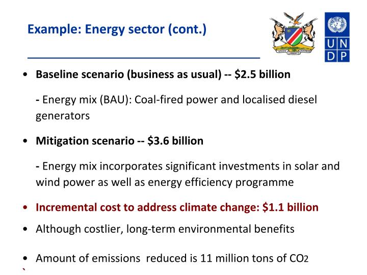 Example: Energy sector (cont.)