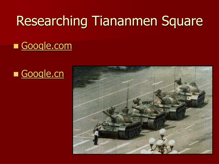 Researching Tiananmen Square