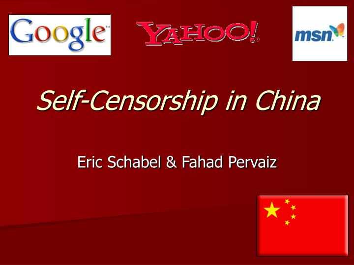 Self censorship in china