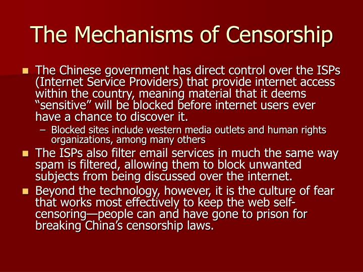 The Mechanisms of Censorship