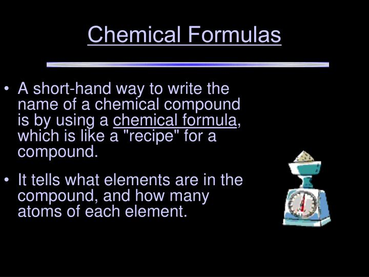 Chemical Formulas