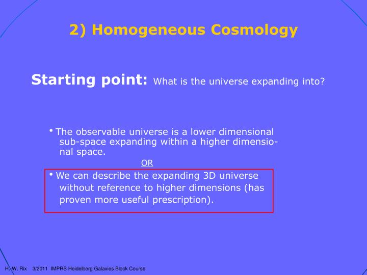 2 homogeneous cosmology