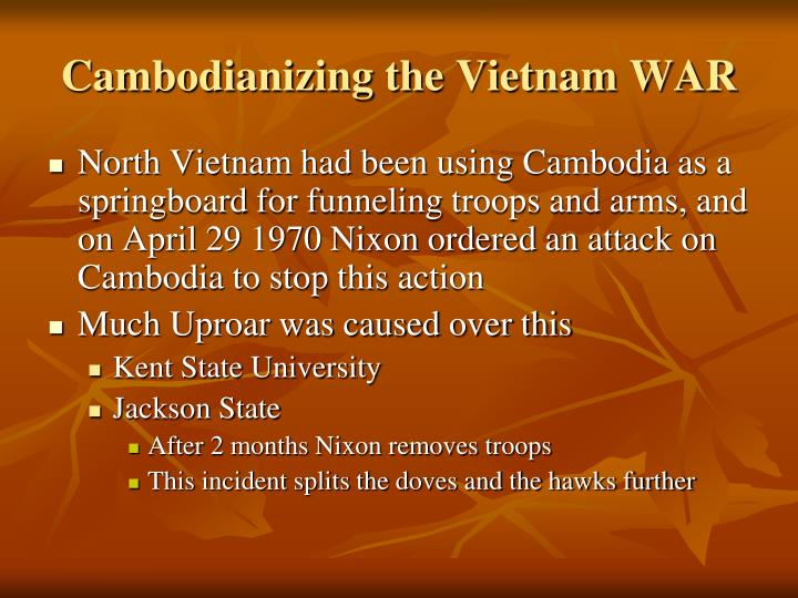 Cambodianizing the Vietnam WAR