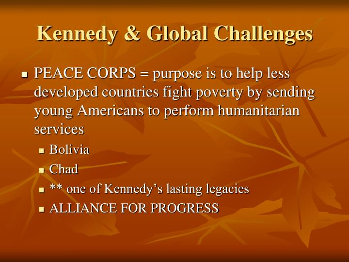 Kennedy & Global Challenges