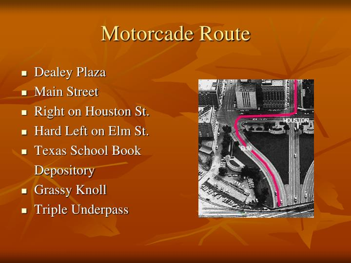 Motorcade Route