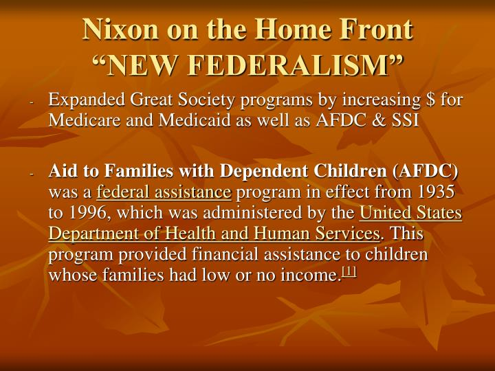 Nixon on the Home Front