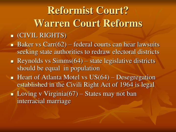 Reformist Court?