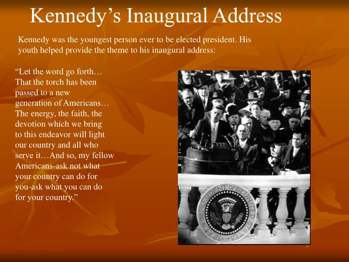 Kennedy's Inaugural Address
