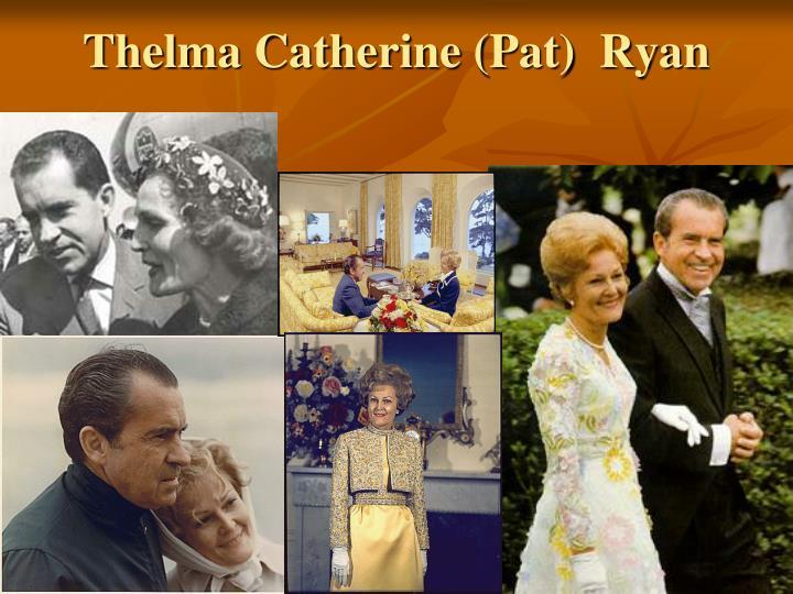 Thelma Catherine (Pat)  Ryan