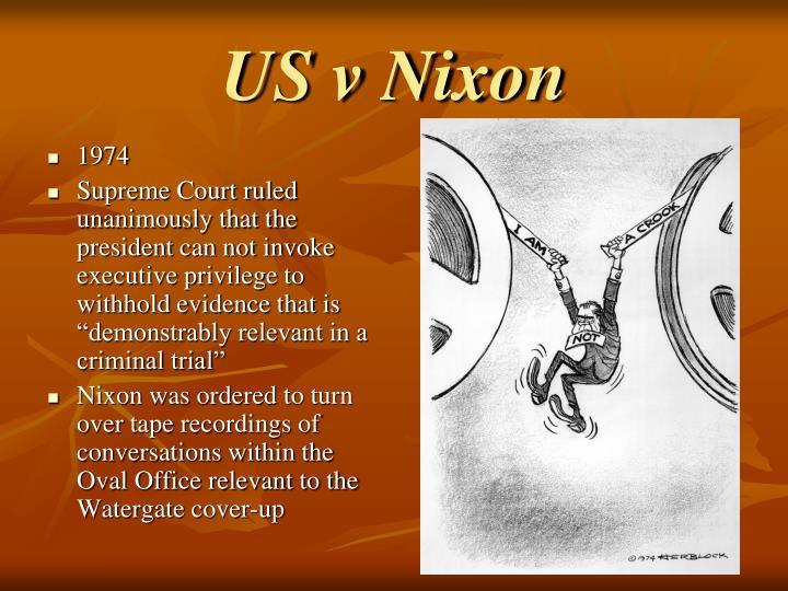 US v Nixon
