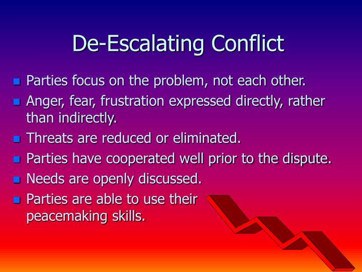 De-Escalating Conflict